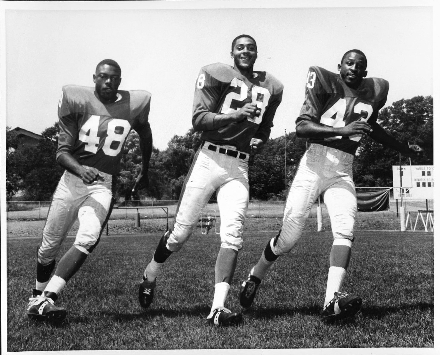 Clarence Childs, Henry Carr, Spider Lockhart; 1966 New York Giants
