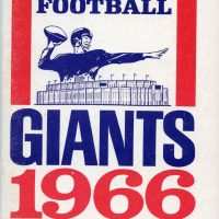 1966 New York Giants Media Guide