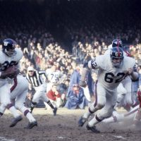 Bill Triplett (38) and Darrell Dess (62), New York Giants (December 17, 1967)
