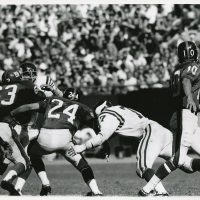 Doug Van Horn (63), Tucker Frederickson (24), Fran Tarkenton (10); New York Giants (September 21, 1969)