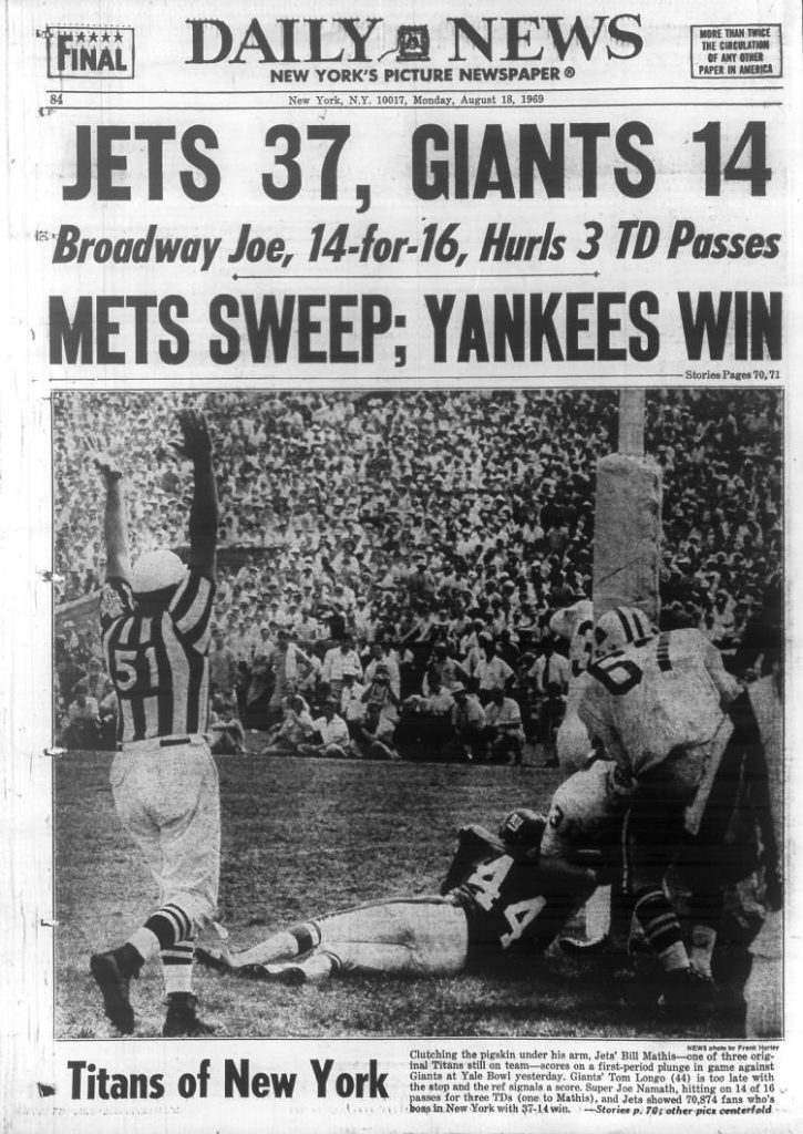 New York Giants vs. New York Jets (1969 Preseason)