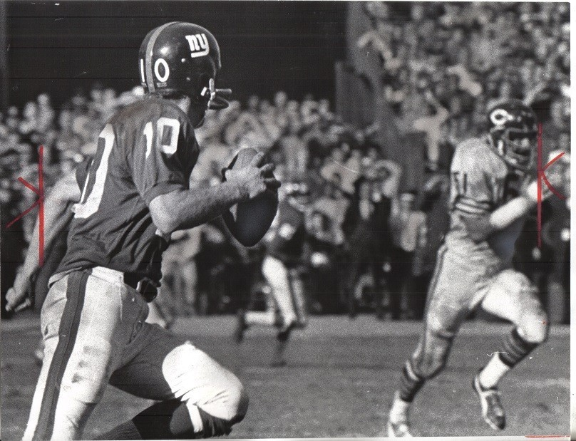 Fran Tarkenton, Chicago Bears at New York Giants (October 5, 1969)