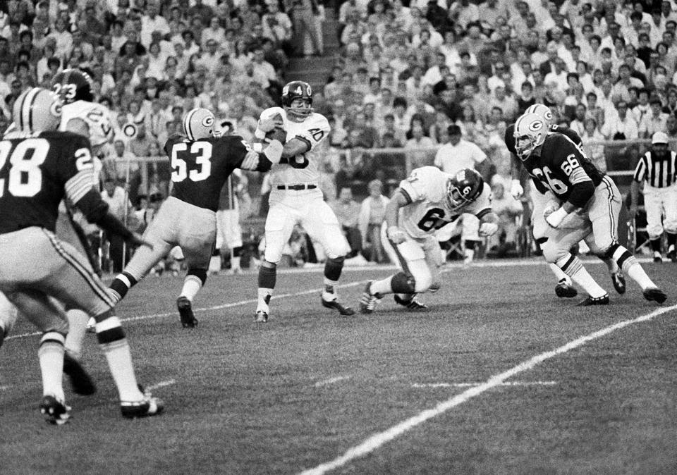 Joe Morrison (40), New York Giants at Green Bay Packers (Preseason 1972)