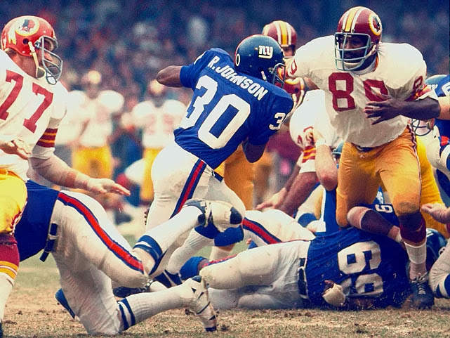 Ron Johnson (30), Washington Redskins at New York Giants (October 29, 1972)