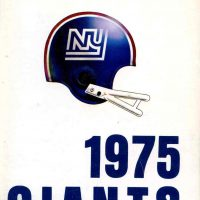 New York Giants 1975 Media Guide