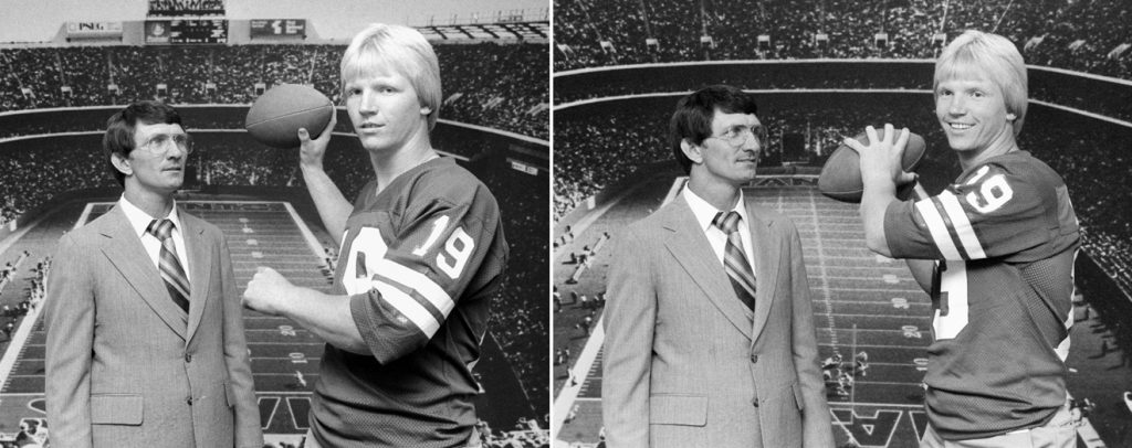 Ray Perkins and Phil Simms, New York Giants (1979)
