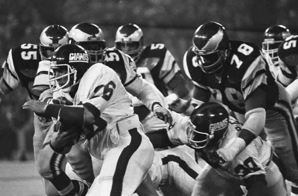 Rob Carpenter, New York Giants (December 27, 1981)
