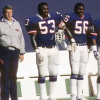 Bill Parcells, Harry Carson, Lawrence Taylor; New York Giants (November 11, 1984)