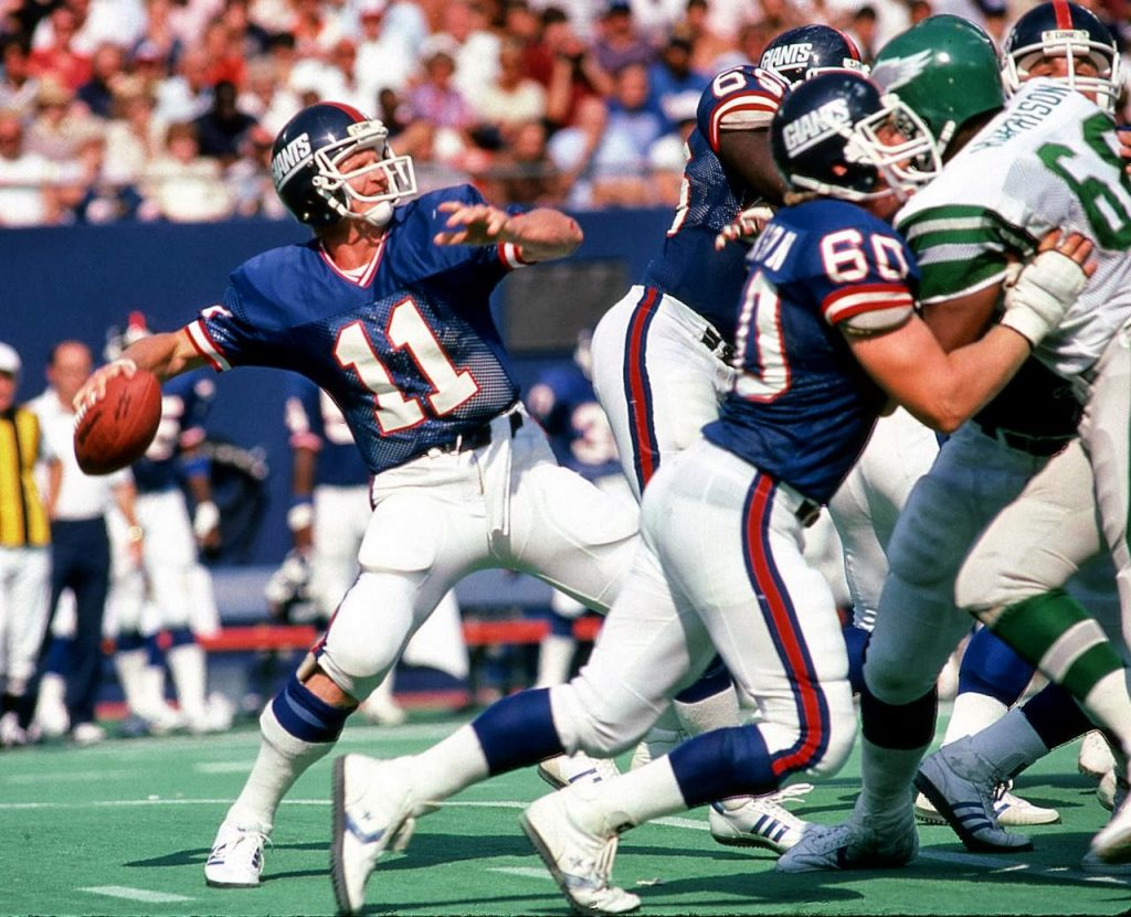 Phil Simms, Philadelphia Eagles at New York Giants (September 2, 1984)
