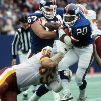 Billy Ard and Joe Morris, New York Giants (October 20, 1985)