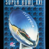 New York Giants Super Bowl XXI Game Program