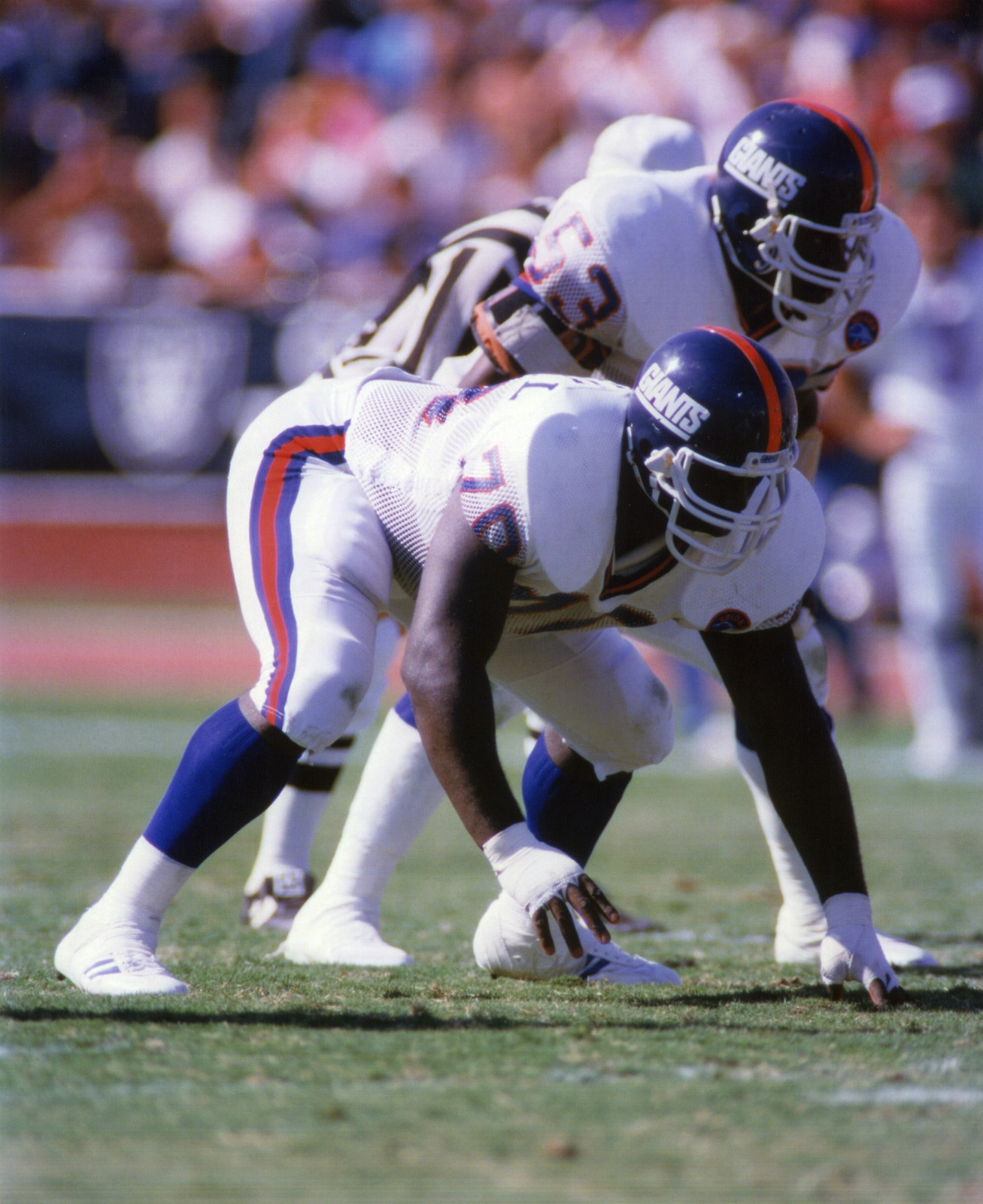 Leonard Marshall (70), Harry Carson (53), New York Giants (September 21, 1986)