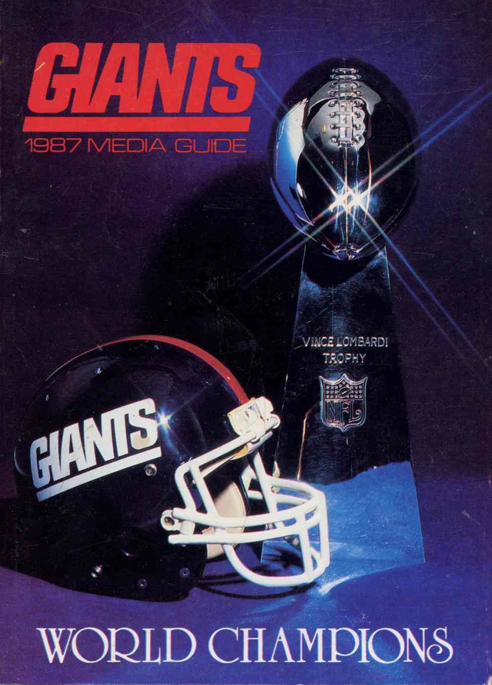 New York Giants 1987 Media Guide