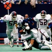 Carl Banks (58) and Pepper Johnson (52), New York Giants (September 20, 1987)