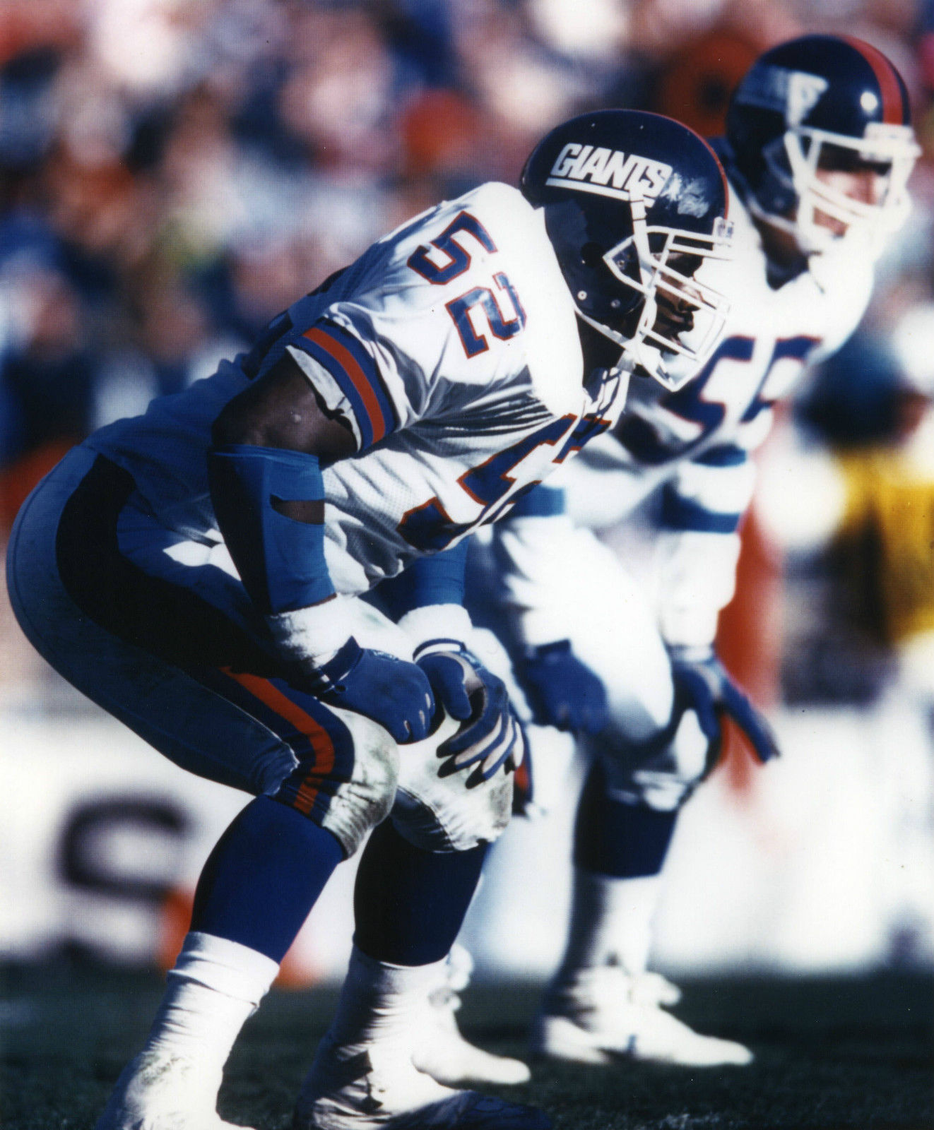 "Thomas ""Pepper"" Johnson (52), Gary Reasons (55), New York Giants (December 23, 1990)"