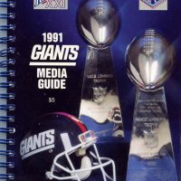 New York Giants 1991 Media Guide