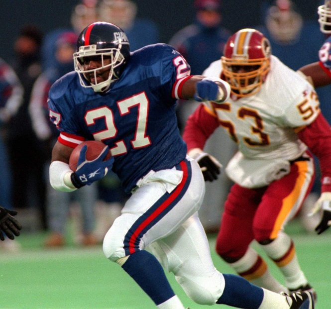 Rodney Hampton, New York Giants (December 10, 1995)