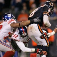 Michael Strahan (92), New York Giants (December 2, 2007)