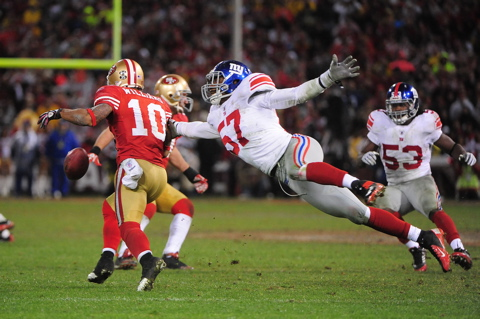 Jacquian Williams (57), New York Giants (January 22, 2012)