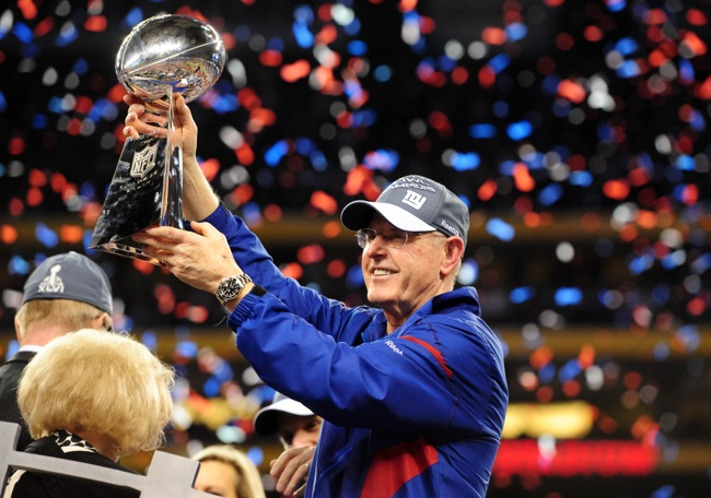 Tom Coughlin, New York Giants (February 5, 2012)
