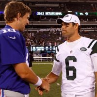 Eli Manning and Mark Sanchez (August 18, 2011)