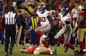 Jason Pierre-Paul (90), Justin Tuck (91), New York Giants (January 22, 2012)