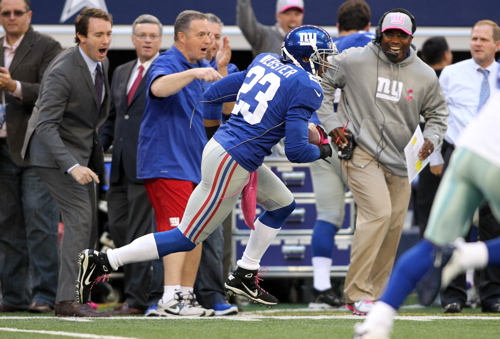 Corey Webster, New York Giants (October 28, 2012)