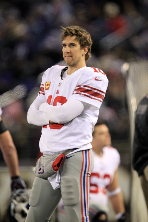 Eli Manning, New York Giants (December 23, 2012)