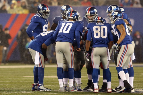 Eli Manning (10), Victor Cruz (80), New York Giants (December 9, 2012)