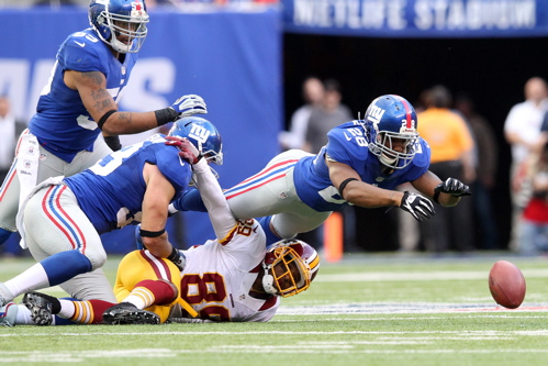 Jayron Hosley (28), New York Giants (October 21, 2012)