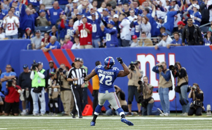 New York Giants Make Offer to Justin Tuck; If the Falcons Cut Osi Umenyiora, He Could Re-Sign With Giants; Giants Interested in TE Jermichael Finley