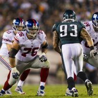 Chris Snee (76) and David Baas (64), New York Giants (September 30, 2012)