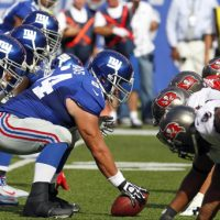 David Baas (64), New York Giants (September 16, 2012)
