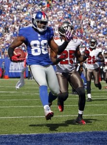 Hakeem Nicks, New York Giants (September 16, 2012)