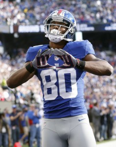 Victor Cruz, New York Giants (October 21, 2012)
