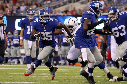 Andre Brown, New York Giants (August 18, 2013)