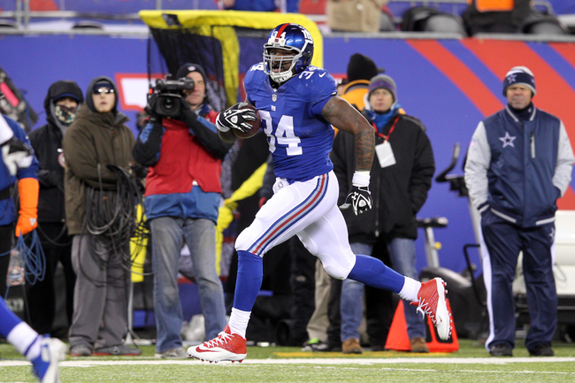 Brandon Jacobs, New York Giants (November 24, 2013)