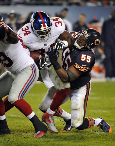 Brandon Jacobs, New York Giants (October 10, 2013)