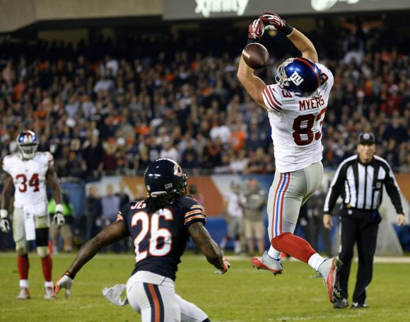 Brandon Myers, New York Giants (October 10, 2013)