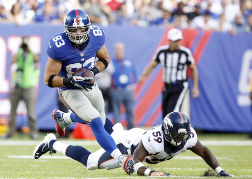 Brandon Myers, New York Giants (September 15, 2013)