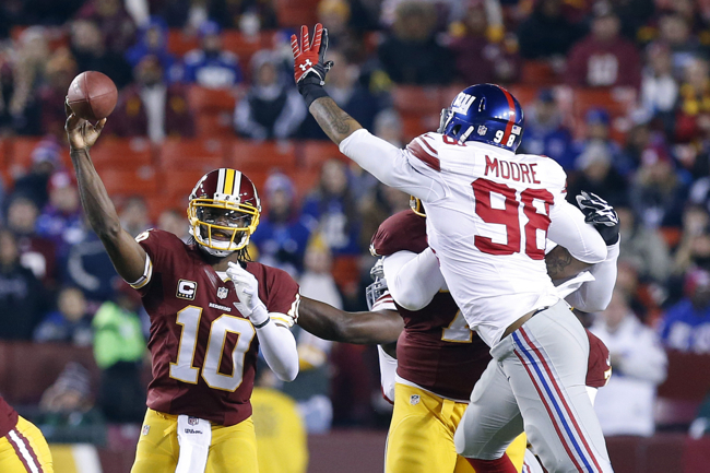 Damontre Moore, New York Giants (December 1, 2013)