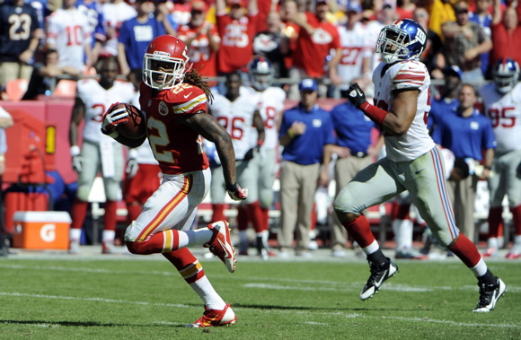 Dexter McCluster, Kansas City Chiefs (September 29, 2013)