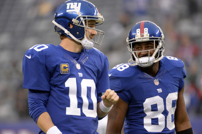 Eli Manning, Hakeem Nicks, New York Giants (November 17, 2013)