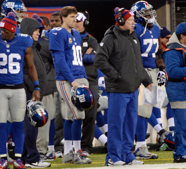 Eli Manning, Kevin Gilbride, New York Giants (December 15, 2013)