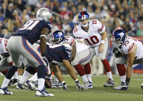 Eli Manning, New York Giants (August 29, 2013)