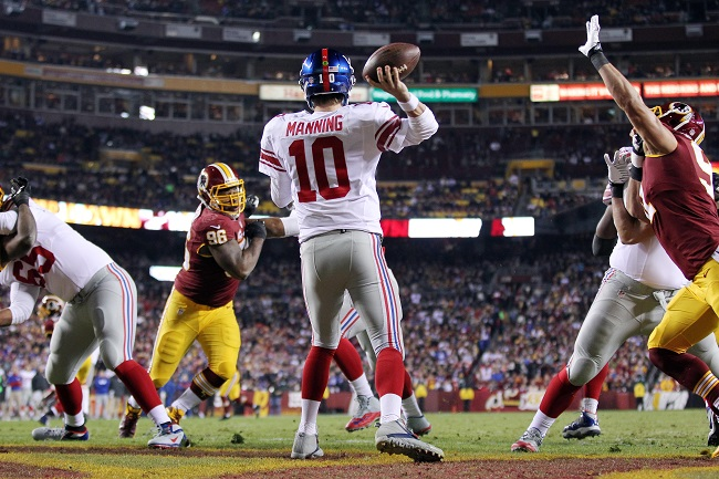 Eli Manning, New York Giants (December 1, 2013)