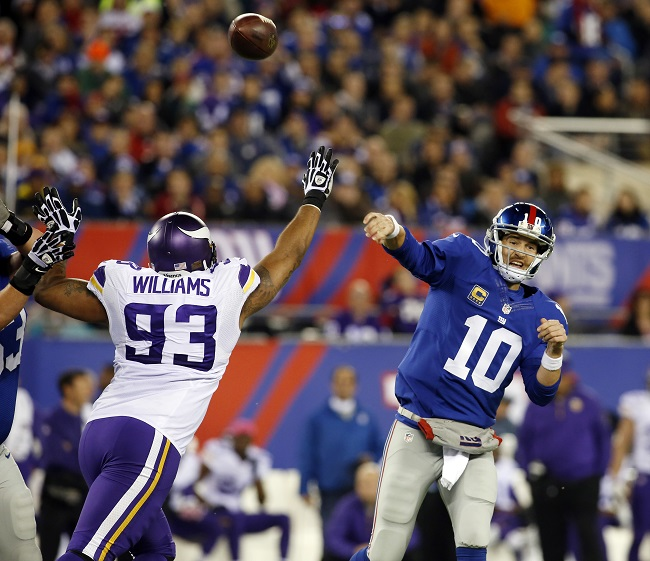 Eli Manning, New York Giants (October 21, 2013)