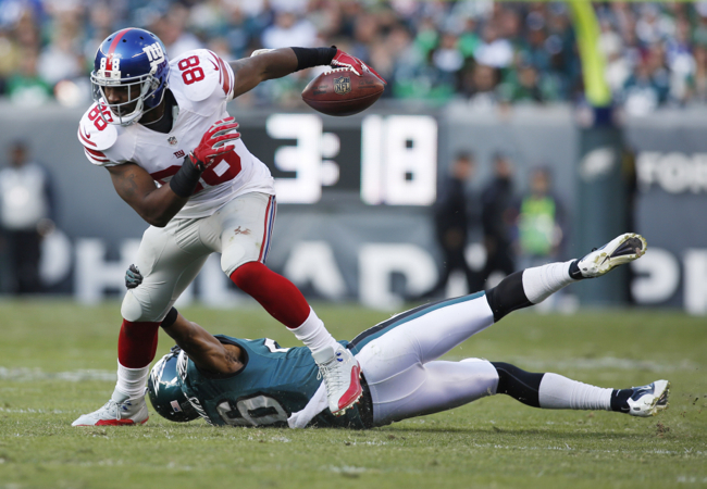 Hakeem Nicks, New York Giants (October 27, 2013)