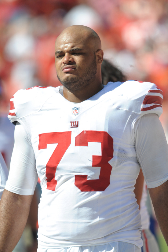 James Brewer, New York Giants (September 29, 2013)