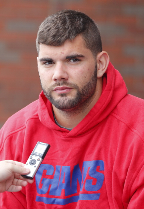 Justin Pugh, New York Giants (July 28, 2013)